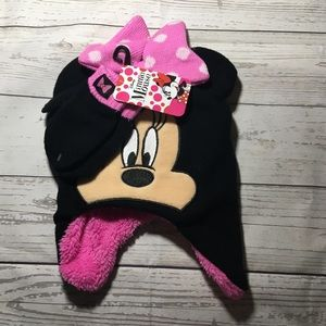 Other - Minnie Mouse pink hat set new